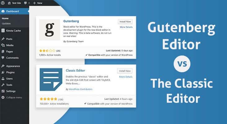Gutenberg Editor vs Classic Editor