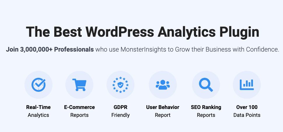 monster insights google analytics plugin for wordpress
