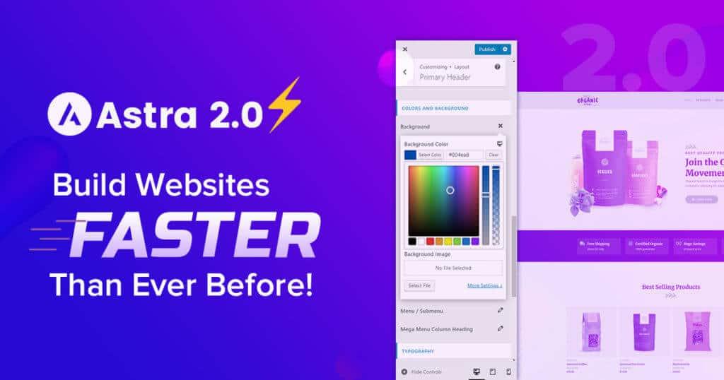 Astra theme to improve core web vitals
