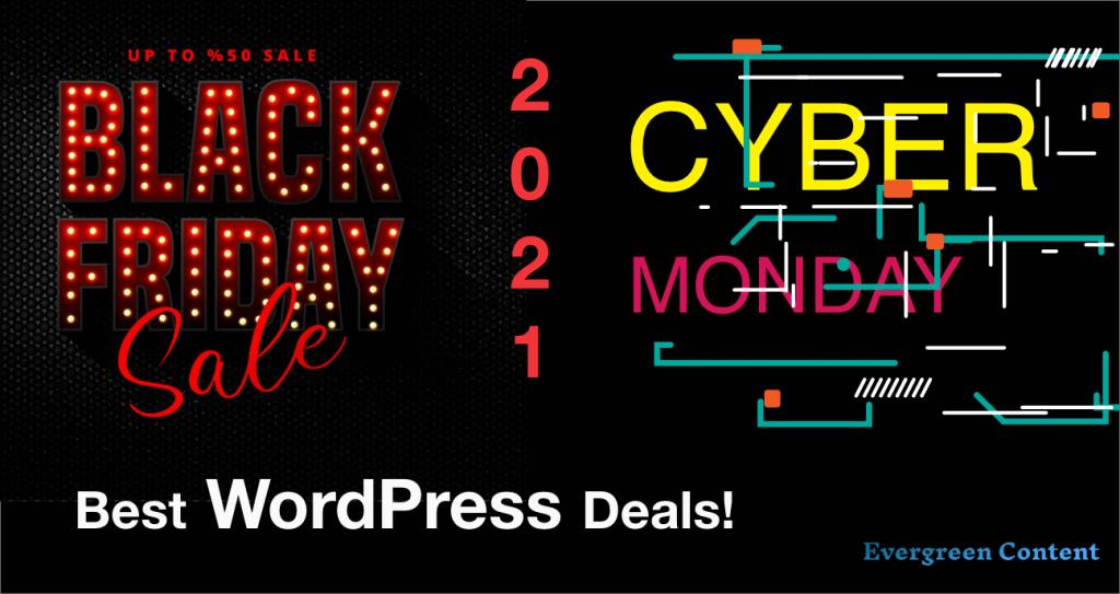 best WordPress black friday deals best WordPress cyber monday deals