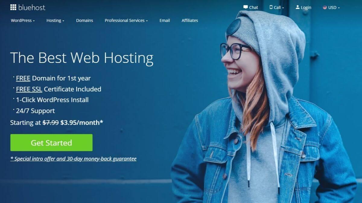 bluehost- best wordpress hosting
