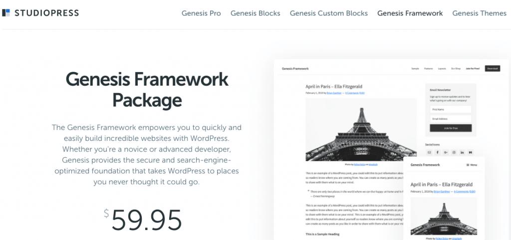 genesis framework genesis themes