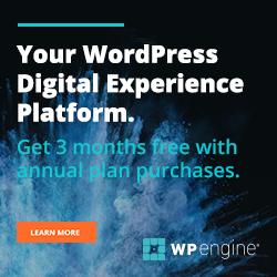 WP Engine free hosting offer