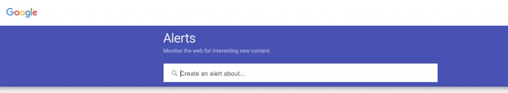 Google alert- Online Brand Monitoring tools