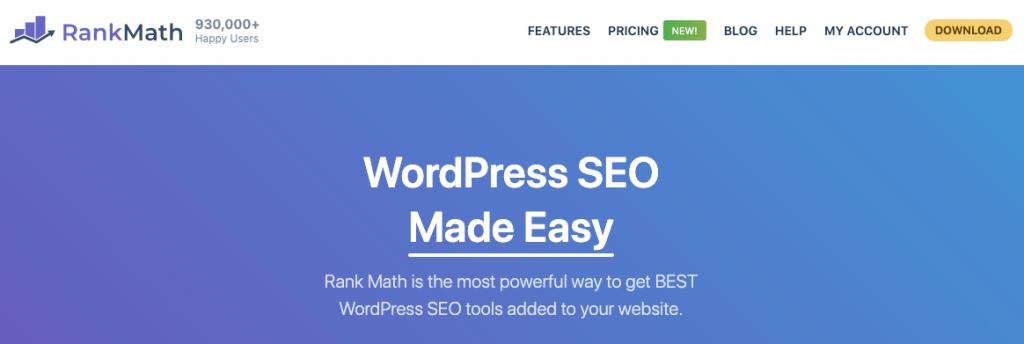 wordpress seo plugin rank math